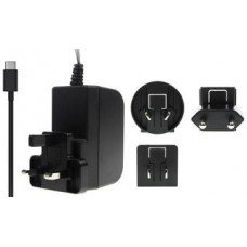 RPi 4 Multinational USB-C Black Power Supply
